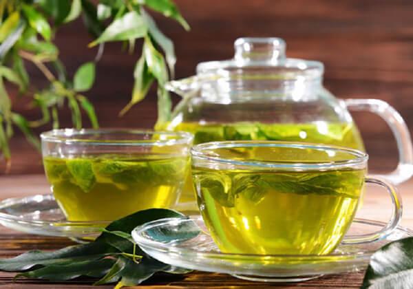 Uống nước trà xanh giảm mỡ bụng