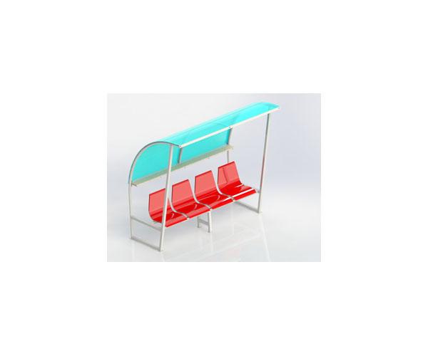 Băng 4 ghế nhựa có mái che giá rẻ nhất tại Thiên Trường Sport