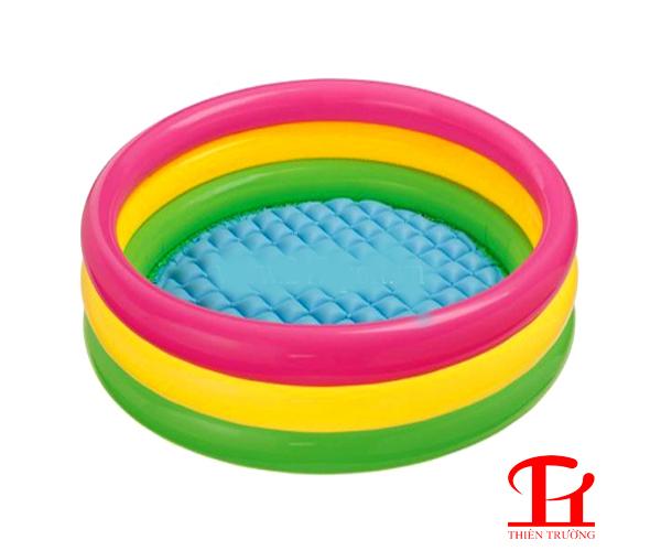 Bể bơi 3 tầng 1m14 Intex giữ hơi tốt, phù hợp dùng cho trẻ em !