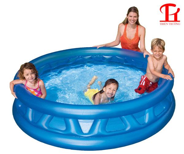 Bể bơi phao gia đình tròn xanh Intex 58431 giá rẻ tại Việt Nam