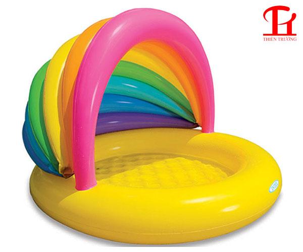 Bể bơi phao mái che cầu vồng Intex 57420 cực xịn, giá rẻ Nhất