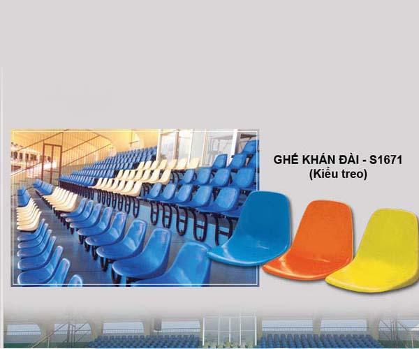 Ghế khán đài S1671 dùng thi công cho sân vận động giá rẻ Nhất
